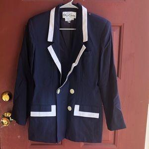 Jackets & Blazers - Classic Double-breasted Navy Blazer